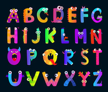Kids Alphabet With Funny Monst...