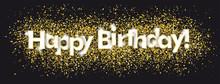 Happy Birthday Golden Confetti...