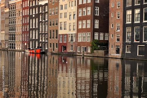 Photo Boat in the canals of Amsterdam
