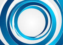Abstract Modern Blue Circles Background