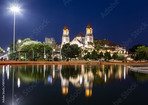 Tuinposter Indonesië Lawang Sewu building in Semarang, Java island, Indonesia