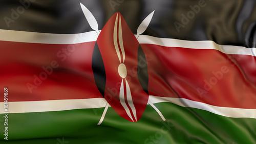 Flag  of Kenya. Kenya Tableau sur Toile