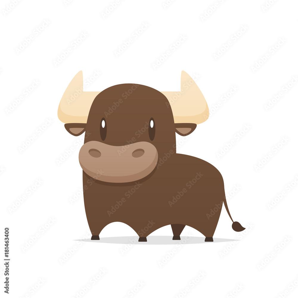 Fototapeta Cartoon bull vector