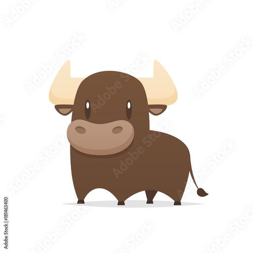 Photo Cartoon bull vector