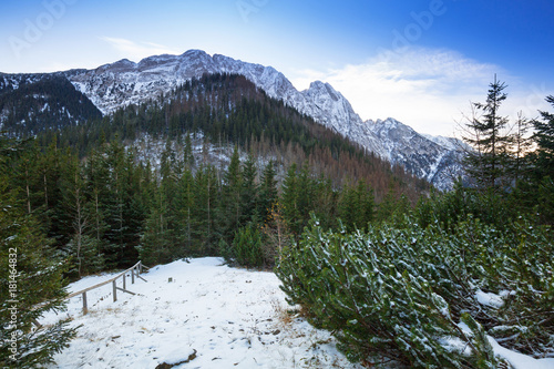 Mount Giewont in Tatra mountains, Poland