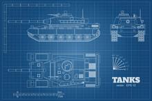 Blueprint Of Realistic Tank. T...