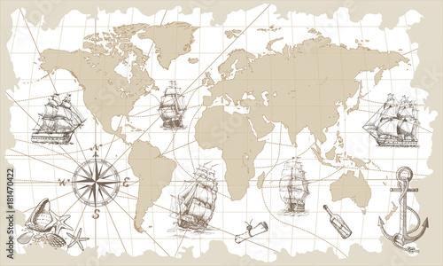 recznie-rysowane-wektor-mapa-swiata-z-kompasem-kotwica-i-zaglowce-w-stylu-vintage-idealny-do-tekstyliow-tapet-i-nadrukow