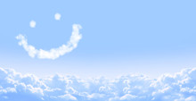 Smilie From Cloud In Blue Sky