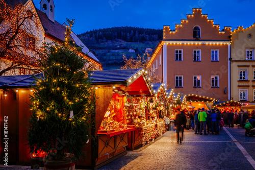 Christmas Market, Vipiteno, Bolzano, Trentino Alto Adige, Italy Canvas Print