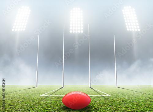 Sports Stadium And Goal Posts Tapéta, Fotótapéta