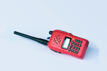 Walkie Talkie Isolated On Whit...