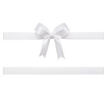 White Bow Tied Using Silk Ribb...