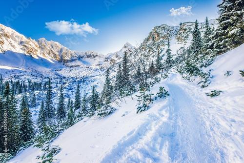 Zdjęcie XXL Szlak na czarnym stawie Gasienicowy, Tatra mountans, Polska