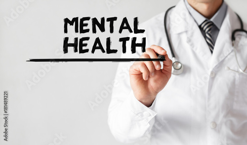 Doctor Writing Word Mental Health With Marker Medical Concept Buy