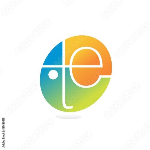Photo  letter t.e logo
