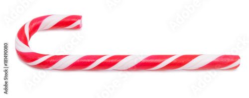 Fotografie, Obraz  Candy cane isolated on white background