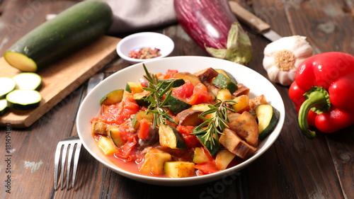 Fototapeta ratatouille,healthy vegetarian meal obraz