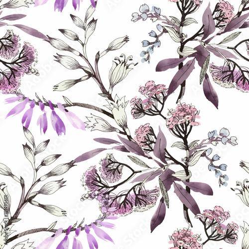 akwarela-bezszwowe-wzor-z-kolorowych-kwiatow-i-lisci-na-bialym-tle-akwarela-kwiatowy-wzor-kwiaty-w-pastelowym-kolorze