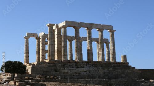 Temple of Poseidon, Attica peninsula, Greece Canvas Print