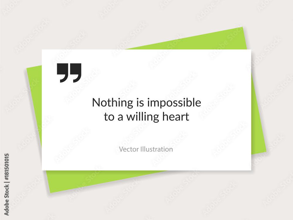 Quote background vector Fotografia Obraz na Posters