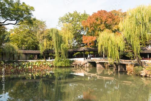 In de dag China China Suzhou Gardens