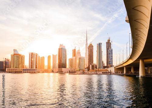 Staande foto Midden Oosten Dubai downtown skyline