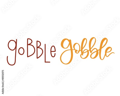 Gobble gobble calligraphy Canvas-taulu