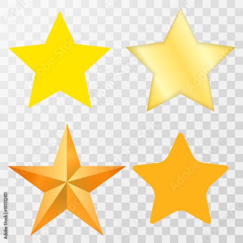 Fotomural Star / Star-icon / Star-vector / Star set on transparent background