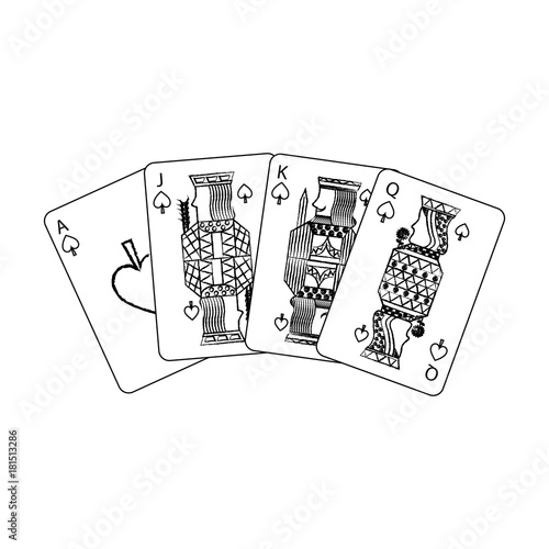 Photo poker playing cards ace jack queen and king spade leisure