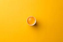 White Egg And Egg Yolk On The ...