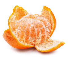 Ripe Juicy Peeled Mandarin Orange