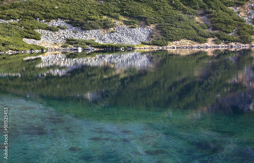 Papiers peints Bleu vert Valley of Five Lakes near Zakopane. Poland