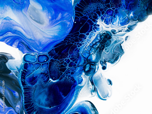 Photo Creative abstract hand painted background, wallpaper, texture, close-up fragment of acrylic painting on canvas with brush strokes
