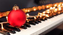 Christmas Ball And Lights On A...