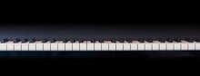 Piano Keyboard, Front View, Co...