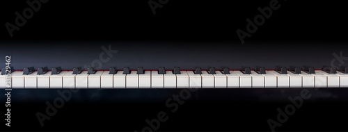 Piano keyboard, front view, copy space Fototapet