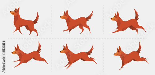 Red dog symbol of the year 2018. Canvas Print
