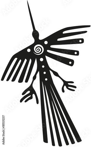 Photo  Nazca Linien in Peru, der Kondor.