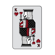 King Of Hearts French Playing ...