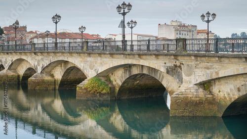 Cadres-photo bureau Con. Antique Old Bridge, Pontevedra, Galicia, Spain