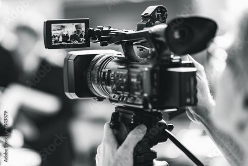 Camera at a press conference #181543879