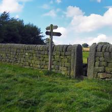 Dry Stone Wall And Walking Sig...