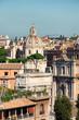 Dome of Santissimo Nome di Maria al Foro Traiano church and arch in Rome, Italy
