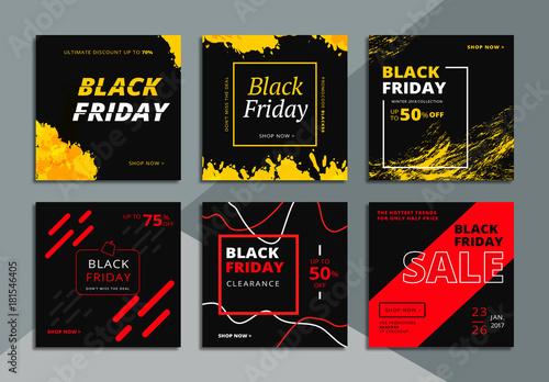 6 black friday social media commerce layouts buy this stock