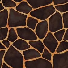 Giraffe Skin Seamless Pattern