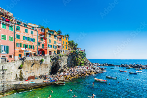 Foto op Aluminium Bergen Riomaggiore in Cinque Terre, Liguria, Italy.