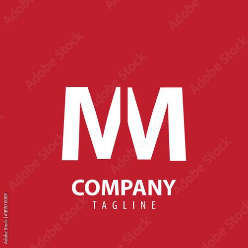 Fotografia  Initial Letter MM Design Logo
