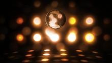 Orange Glowing Spinning Disco ...