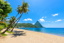 Paradise Beach At Soufriere Ba...