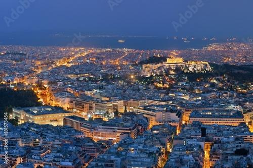 Keuken foto achterwand Antwerpen Athens skyline from Mt Lykavitos at night